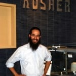 Rabbi Yisroel Wilhelm at the Kosher station at CU Boulder's C4C