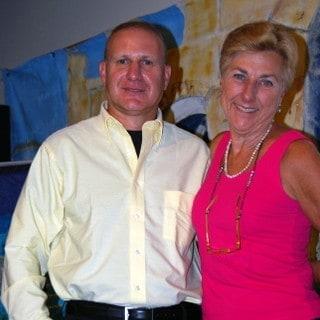 Professor Zach Levey and Kathryn Bernheimer