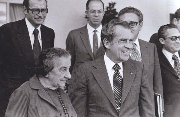 Israel Prime Minister Golda Meir and U.S. President Richard Nixon