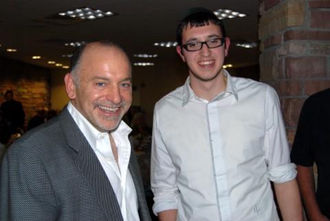Patron Jack Gindi (l) with Restauranteur Mendy Scheiner