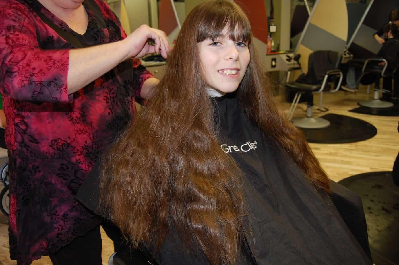 Randi donates her hair to Locks of Love. (Photo/ Velick)