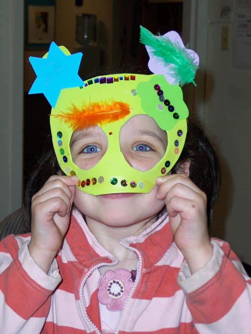 Purim - Kiddo in Mask
