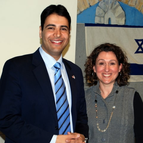 Shahar Azani with Yona Eshkenazi, Executive Director of Stand With Us Colorado
