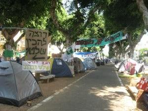 Tent City in Tel Aviv