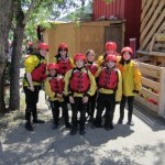Campers prepare for rafting trip