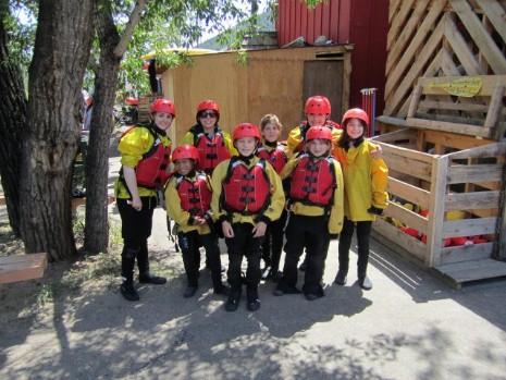 Campers prepare for rafting trip