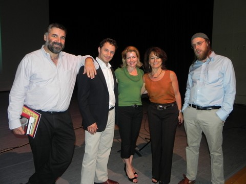 l-r: Rabbi Marc Soloway, Rabbi Josh Rose, Julie Cohen of CMF, Rabbi Tirzah Firestone and Rabbi Gavriel Goldfeder