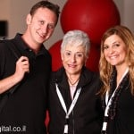 L-R Justin Korda (ED of ROI Community), Lynn Schusterman, Robin Kantor (Director of Communications of Charles and Lynn Schusterman Family Foundation) at the ROI Summit 2012