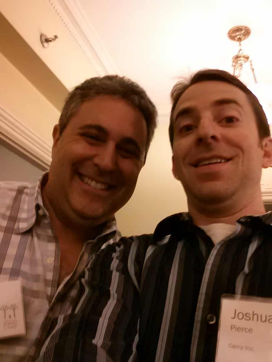Jay Frankel, Field Operations Director for FJC's Incubator II, and Josh Pierce, Chief Camp Officer, Camp Inc.