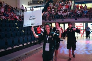 Wendy Aronson leads Team Boulder at Opening Ceremonies 2012