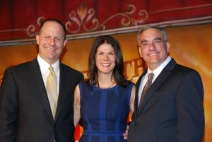 Honorees (l-r): Matt and Julie Rich and Erik Bernstein