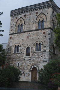 Building in Taormina with Stars of David
