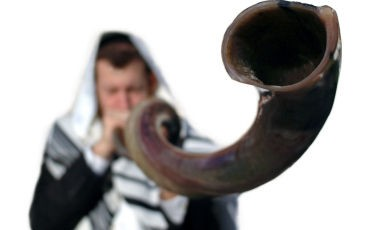 blowing the shofar