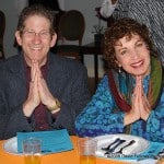 Barbara and Tom Trager get into the spirit at Bialywood, another lively Menorah fundraiser.