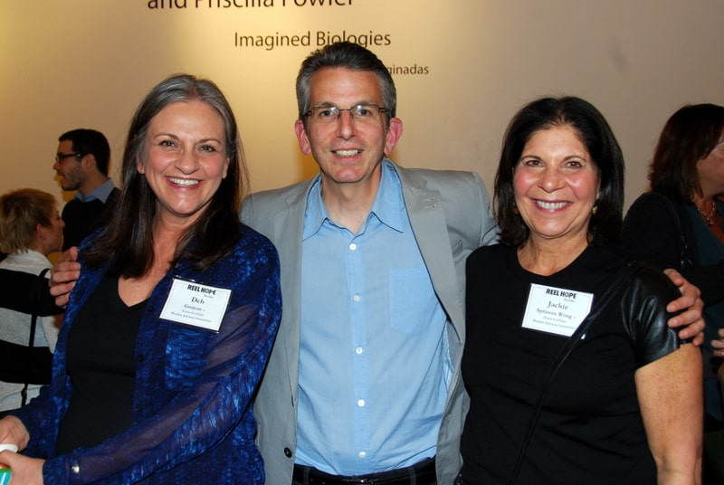 """Argo"" Producer David Klawans (c) with Event Co-Chairs Deb Grojean (l) and Jackie Sprinces Wong (r)"