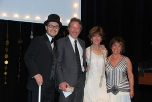 l-r: Boulder JCC Exec. Dir. Jonathan Lev, Bright Stars Michael and Michelle Osterman, and Roberta Levin