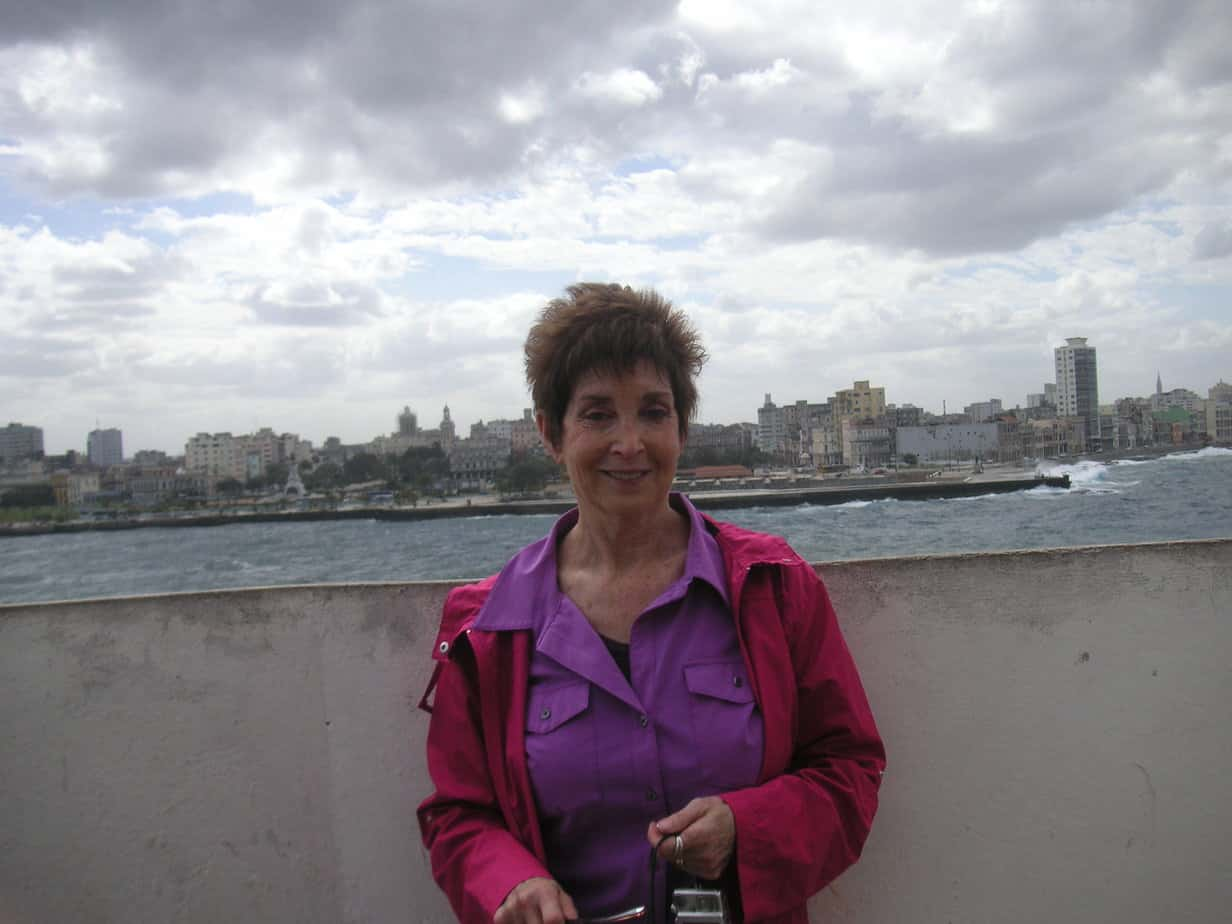 Susan Litt at the old forts guarding Havana Harbor