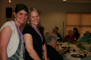 Kari Scott and Michell Pelc from Family Hospice volunteer at The Carillon and Frasier Meadows.