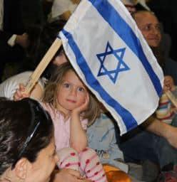girl w Israeli Flag