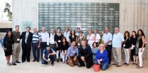 JNF's L'Chaim Solidarity Mission at Ammunition Hill in Jerusalem - photo courtesy of Rafi Ben Hakun