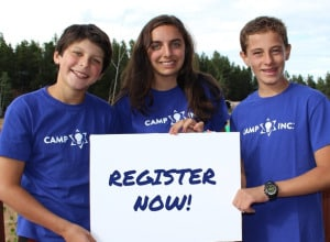 Camp Inc. Registration Now Open for Summer 2015