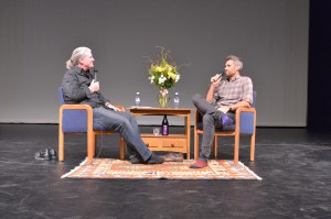 Ron Bostwick interviews Rob Simonsen at Reel Hope Boulder.