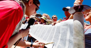 Reading new Torah in the Desert.
