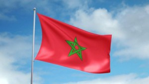 stock-footage-hd-p-clip-with-a-slow-motion-waving-flag-of-morocco-seamless-seconds-long-loop