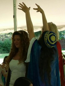 Rav Sarah Bracha receiving ordination as Hebrew Priestess