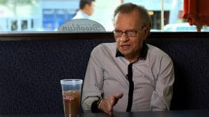 Larry King is among the many Jewish stars, featured in the Deli Man