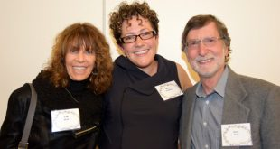 Gail and Jerry Sloat with screenwriter Nicole Perlman