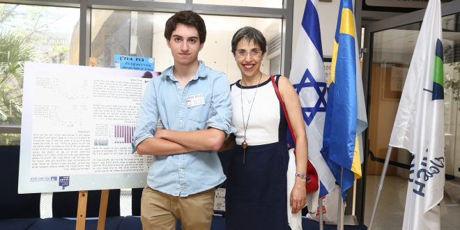 Israeli Teen Chosen to Represent Israel at 2017 Stockholm Junior Water Prize