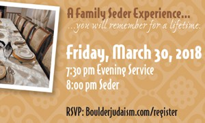 Family Seder from Boulder Center for Judaism