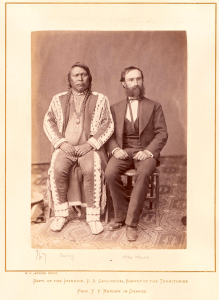 Portrait of Chief Ouray and Otto Mears