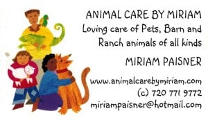 Animal Care by Miriam