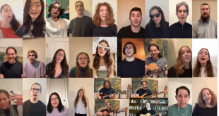 Photo of singing for Schmooze-A-Palooza