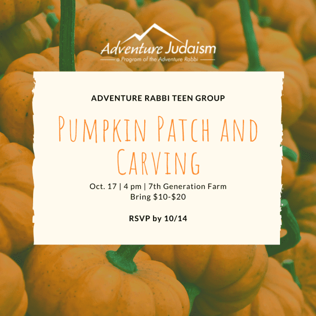 Adventure Rabbi Teens at the Pumpkin Patch